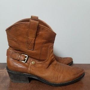 Franco Sarto | Waco Short Brown Western Boot 7